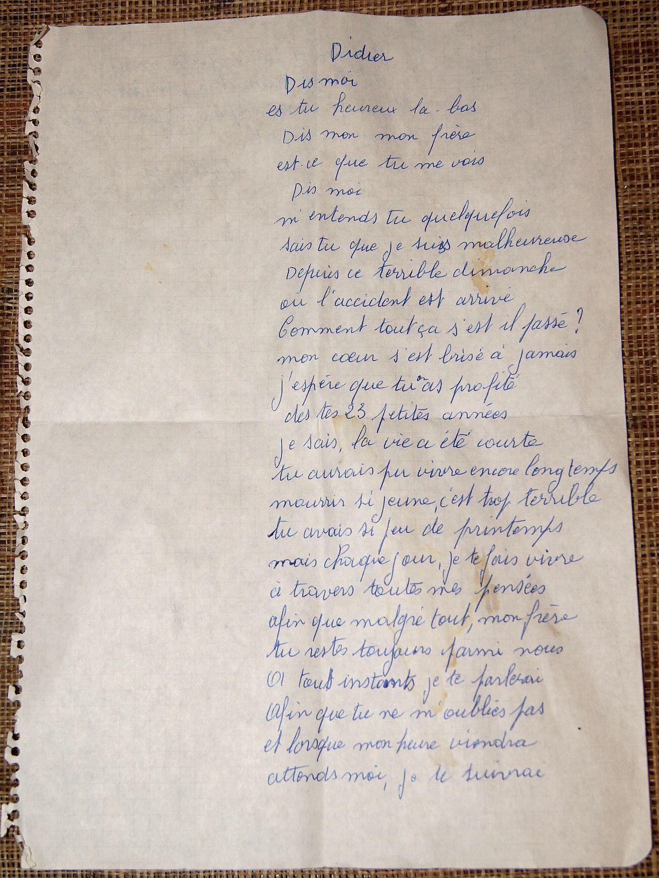 Manuscrit in memoriam